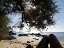 Chillin under a Sardinian tree in Autummer