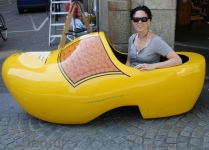 Big wooden shoes in Amsterdam, The Netherlands
