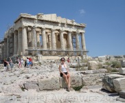 The big and beautiful Acropolis in Greece