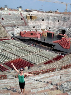 Big is the Arena in Verona, Italy