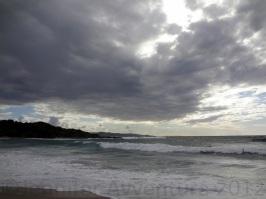 Silhouette of Isola Rossa, Sardinia