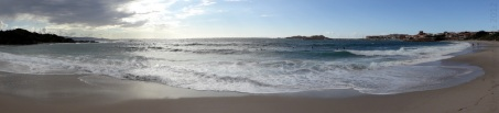 Half silhouette of Isola Rossa, Sardinia