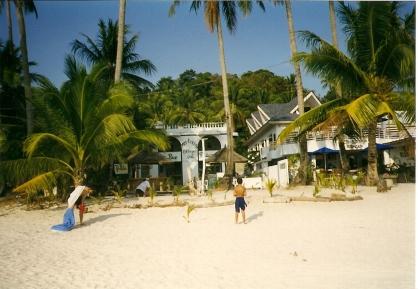 Tin-Tin's Motel - Boracay, the Philippines. Circa 1998
