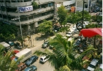 Taken from the hotel rooftop terrace - central Manila circa 1998.