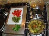 Artichokes, tomatoes and asparagus - all local!