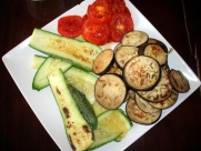 Grilled local veggies