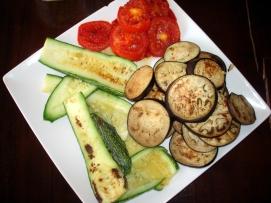 Grilled local veggies