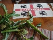 Freshly cut Sardinian Artichokes