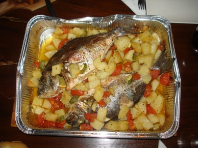 Baked Orate & Potatoes