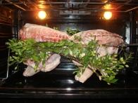 Sardinian Porceddu - Sardinian Pork with white myrtle