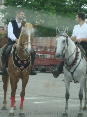 A couple of horse riders in Olbia