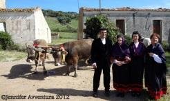 A traditional Sardinian wedding couple.