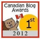 2012 Canadian Blog Awards 1st