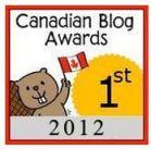 2012 Canadian Blog Awards 1st