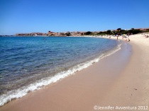 July beach days at Isola Rossa