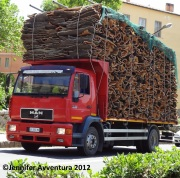 Sardinian cork transport