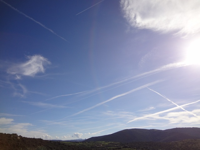 Chemtrails in the Sardinian Sky by Jennifer Avventura 2013