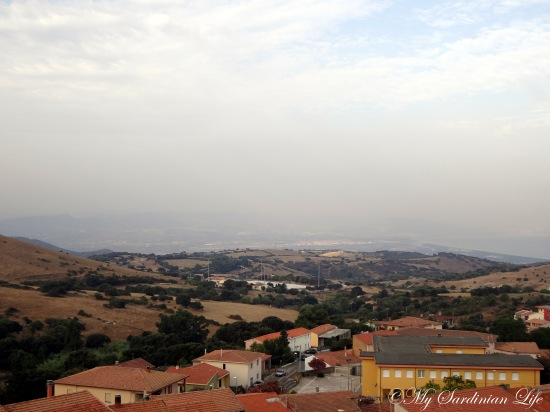 Jennifer Avventura My Sardinian Life smoke from fire August 7 2013