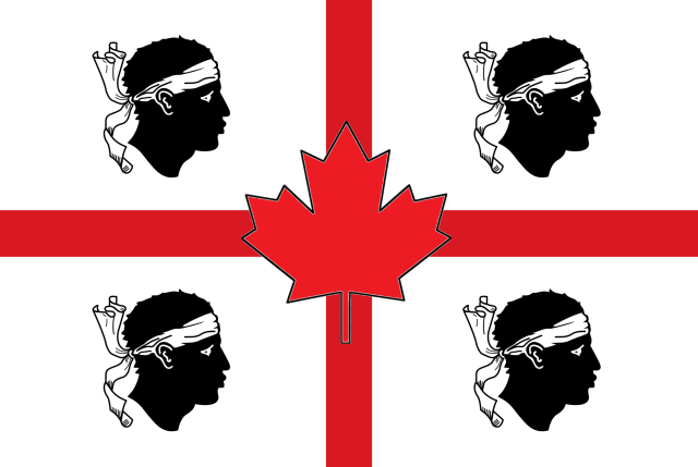 Canada and Sardinia Flag by Jennifer Avventura My Sardinian Life