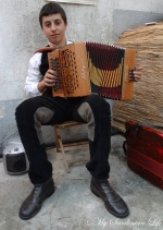 An Unexpected Accordion Player at Tonara, Sardinia