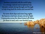 A poem forSardinia