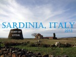 Cost of Living 2013 – Sardinia, Italy