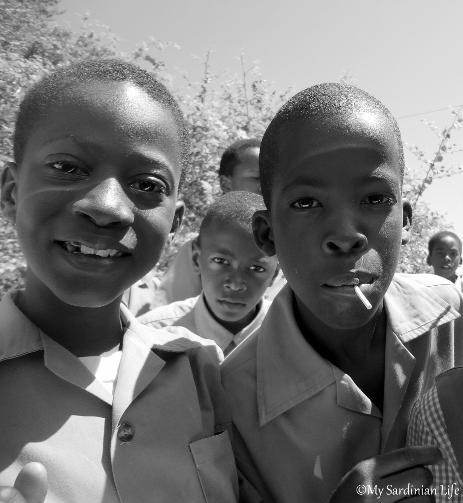 Jamaican children by Jennifer Avventura